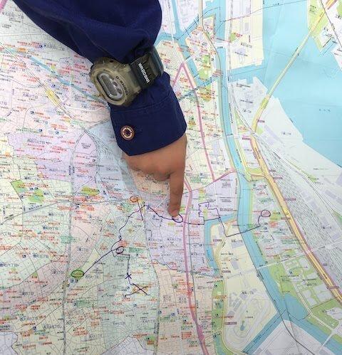 地図を見て歩く