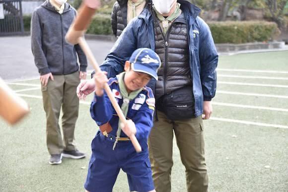 おもちつきと新春カブし芸大会